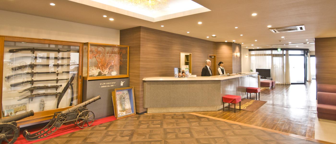 種子島あらきホテルフロント